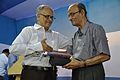 Saroj Ghose Presents Memento to Samar Bagchi - Inaugural Function - MSE Golden Jubilee Celebration - Science City - Kolkata 2015-11-17 5079.JPG