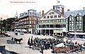 Saturday Street Auction on Main Street, Keene NH in 1890s (2655227797).jpg
