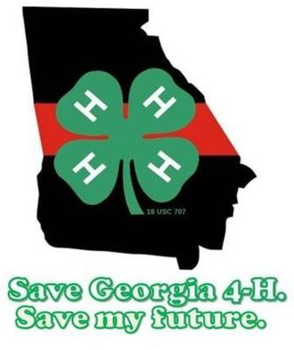 Georgia 4-H - Created by 4-H'er James Conor Dunn, this logo surfaced online media during the 2010 cancelation scare of the Georgia 4-H program.