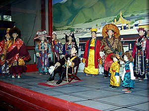 Scene from Tibet Royal courts, Losel Doll Museum, Norbulingka Institute, Dharamsala.jpg