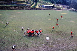 Te Aute College - Te Aute College playing school rugby in New Plymouth against New Plymouth Boys' High School in 1968