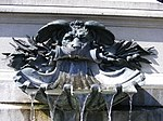 Schweinfurt - Rückert-Denkmal, wasserspeiender Löwe.JPG