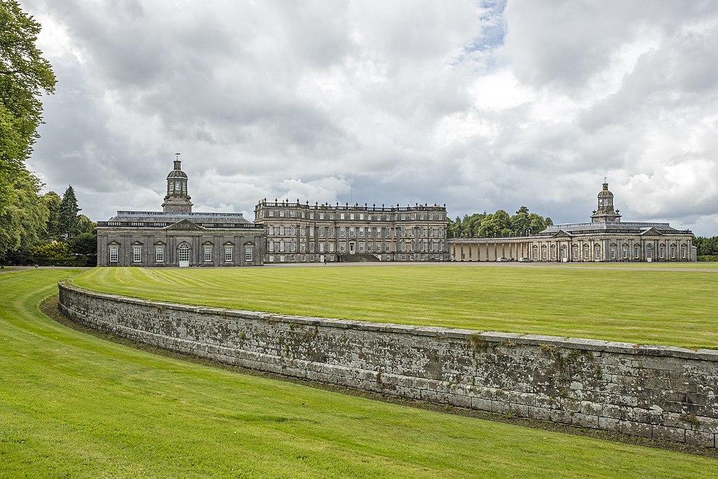 mur pałac trawnik niebo
