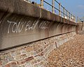 Sea defences with graffiti (ironic^) - geograph.org.uk - 138796.jpg