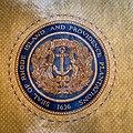 Seal of Rhode Island in carpet.jpg