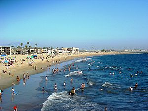 Seal Beach, California - Seal Beach on a crowded summer afternoon