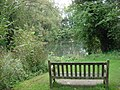 Seat and stream, Clare Country Park - geograph.org.uk - 980715.jpg