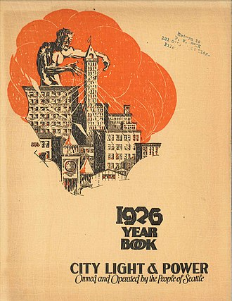 Seattle City Light - Cover of Seattle City Light Yearbook, 1926