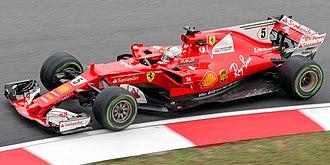 Ferrari SF70H - Image: Sebastian Vettel 2017 Malaysia FP1 1