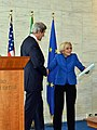 Secretary Kerry and Italian Foreign Minister Bonino Shake Hands.jpg