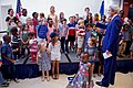 Secrtary Kerry Greets Children as he Arrives at U.S. Embassy Kigali to Greet Its Staff (29696528044).jpg