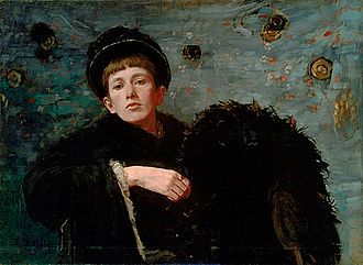 "Ellen Day Hale - Self-Portrait, oil on canvas, 1885, (28 1/2"" x 39"") Museum of Fine Arts, Boston"