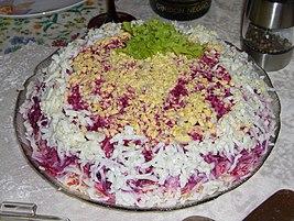 кто придумал салат сельдь под шубой
