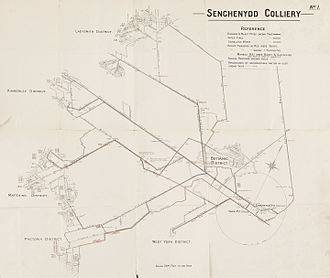Senghenydd colliery disaster - The layout of the Senghenydd mines, showing the location of the victims, and how they had died