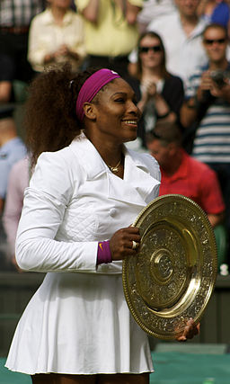 Serena Williams winning Wimbledon Ladies' Singles 2012
