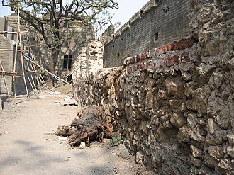 Sewri Fort - Image: Sewri fort wall