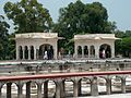 Shalamar Garden July 14 2005-Two identical pavilions on second level closeview.jpg