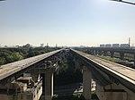 Shanghai Maglev Line from platform of Longyang Road Station (Shanghai Maglev).jpg