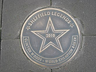 Clinton Woods - Star on the Walk of Fame outside Sheffield Town Hall
