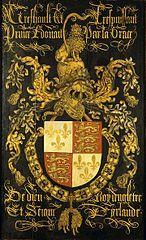 Wapenbord van Eduard IV, koning van Engeland (1442-1483), in zijn hoedanigheid van ridder in de orde van het Gulden Vlies