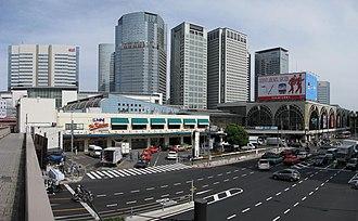 Shinagawa Station - Exterior of Shinagawa Station, May 2011