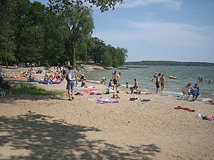 Sibley State Park - Beach at Sibley State Park