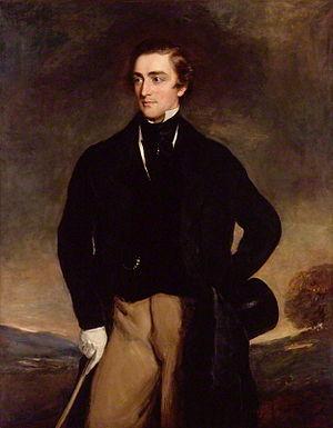 Sidney Herbert, 1st Baron Herbert of Lea - Stipple engraving by W. Holl after G. Richmond.
