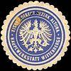 Siegelmarke Eisenbahn Directions Bezirk Altona - Hauptwerkstatt Wittenberge W0219761.jpg