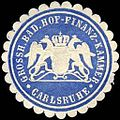 Siegelmarke Grossherzoglich Badische Hof - Finanz - Kammer - Carlsruhe W0225957.jpg