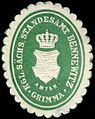 Siegelmarke Königlich Sächsisches Standesamt Bennewitz - Amtshauptmannschaft Grimma W0252219.jpg
