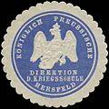 Siegelmarke K.Pr. Direktion der Kriegsschule Hersfeld W0379108.jpg