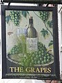 Sign for The Grapes - geograph.org.uk - 738862.jpg