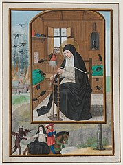 St. Gertrude de Nivelles, from the Hours of Cardinal Albrecht of Brandenburg (1490-1545), Archibishop and Elector of Mainz