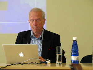 Simon Blackburn - Simon Blackburn giving the Gottlob Frege Lectures in Theoretical Philosophy 2009 in Tartu, Estonia
