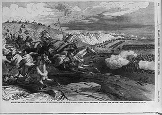 Battle of the Rosebud - Image: Sioux charging at Battle of Rosebud