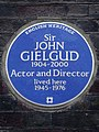 Sir JOHN GIELGUD 1904-2000 Actor and Director lived here 1945-1976.jpg