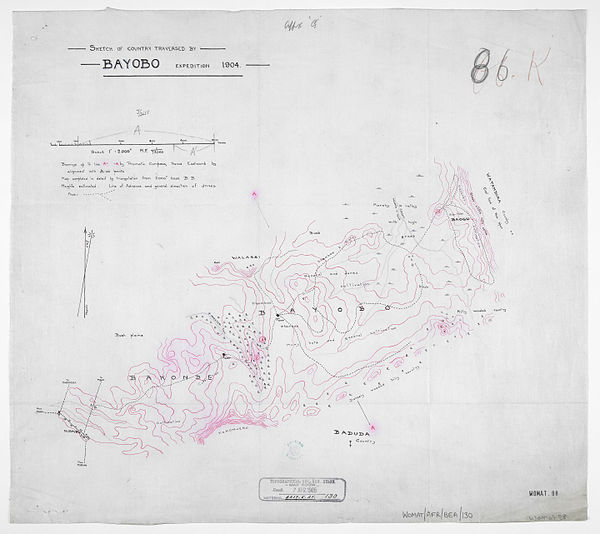 600px sketch of country traversed bayobo expedition 1904. %28womat afr bea 130%29
