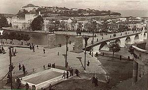 Stone Bridge (Skopje) - Image: Skopski Kameni Most stara