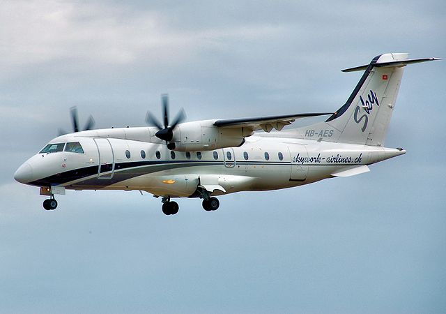 Sky Work Airlines Dornier 328 at RIAT 2010 arp