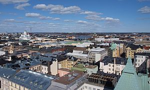 Skyline of Helsinki as seen from the Erottaja fire station.jpg