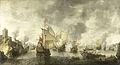 Slag van de verenigde Venetiaanse en Nederlandse vloten tegen de Turken in de Baai van Foja, 1649. Rijksmuseum SK-A-3737.jpeg