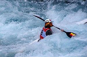 Slalom canoeing 2012 Olympics W K1 GER Jasmin Schornberg (2).jpg