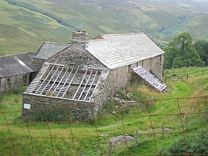 Withnail and I - Sleddale Hall, the location used as Monty's cottage. This photo dates from 2007. The hall was restored in 2011–2012.