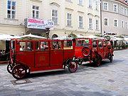 Tourist train Prešporáčik in the Old Town
