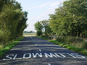 English: Slow Road.