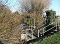Sluice gate beside the Ewenny, Waterton Industrial Estate, Bridgend - geograph.org.uk - 1152018.jpg