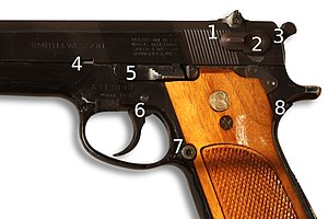 Smith & Wesson Model 39 - Details of the controls.