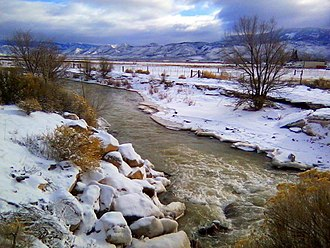 Sevier River - The upper Sevier River in winter, near Circleville, Beaver County