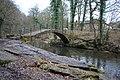"So-called ""Roman Bridge"", Strawberry Hill on R. Goyt - geograph.org.uk - 1730682.jpg"