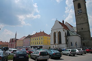 Soběslav Town in South Bohemian, Czech Republic